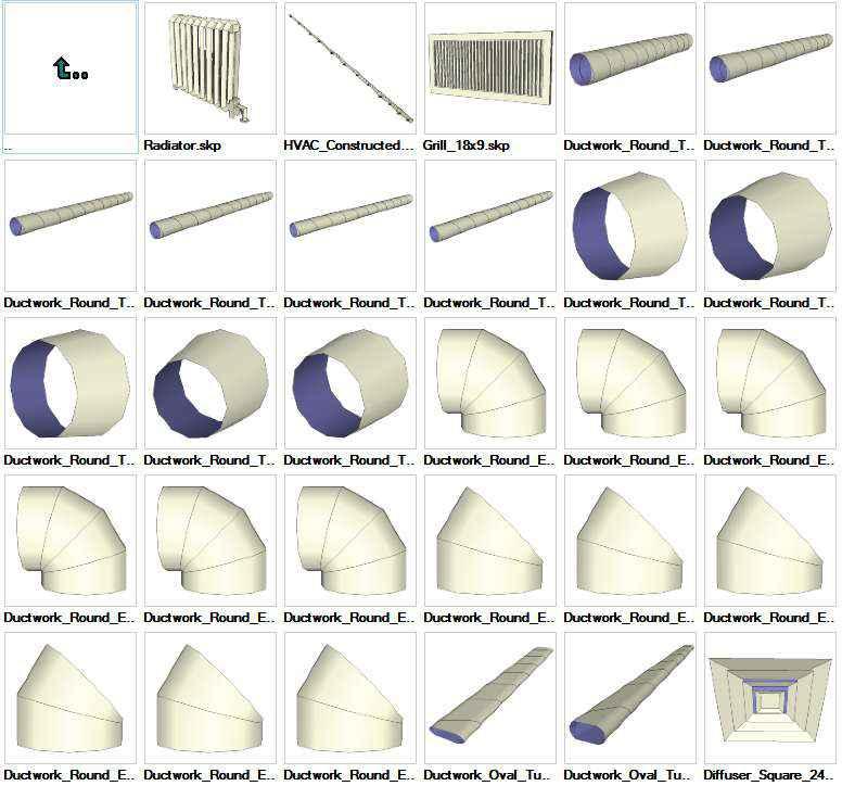 Sketchup HVAC 3D models download – Autocad Blocks & Drawings